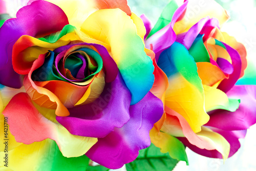 Plexiglas Rozen fake rose flower