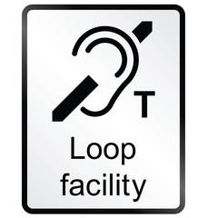 Monochrome Loop facility public information sign