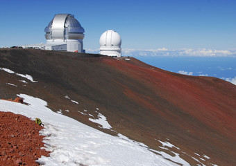 Observatory on Summit of Mauna Kea, Hawaii