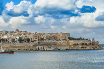 Valletta south waterfront in Malta