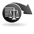 informations légales sur symbole noir