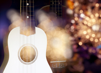 Acoustic Guitar on spot light effect
