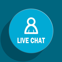 live chat flat vector icon
