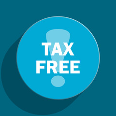 tax free flat vector icon