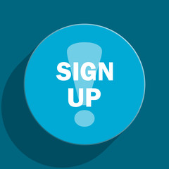 sign up flat vector icon