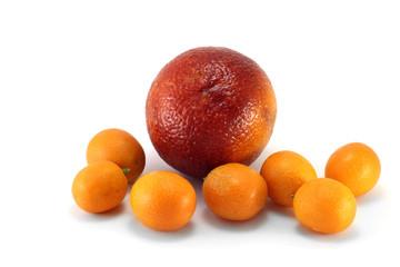 Апельсин красного сорта и кумкваты