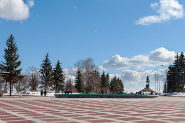 square near the Salavat Yulaev monument in Ufa