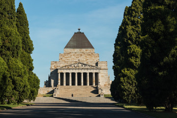 Shrine of Remembrance in Melbourne, Australia