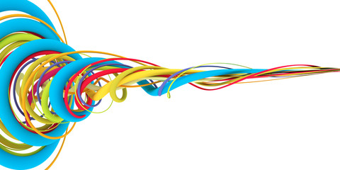 Colorful wires