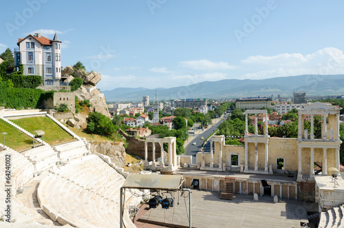 Fragment of the ancient amphitheater, Plovdiv, Bulgaria