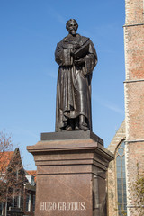 Standbeeld Hugo Grotius Delft Nederland