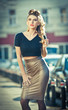 Attractive young woman in a urban fashion shot. Beautiful girl