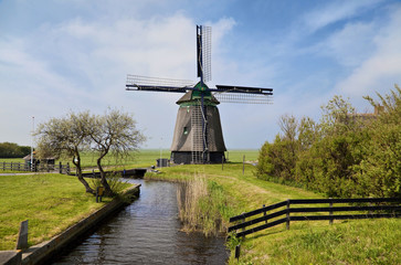 Old wind mill in Holland