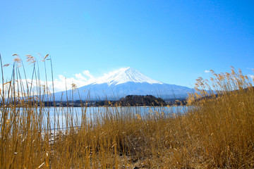 Fujiyama mountain in the center position