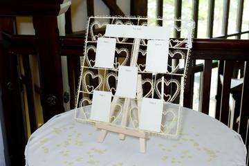 Wedding seating plan