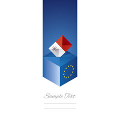 EU elections in Malta vector