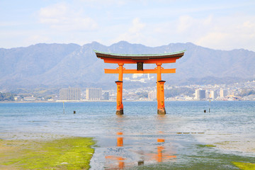 Landmark of unique Torii