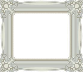 Vintage Gray Baroque Frame
