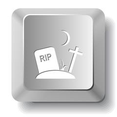 Rip. Vector computer key.