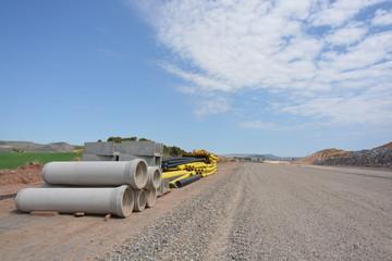 carretera y material para la obra y construccion