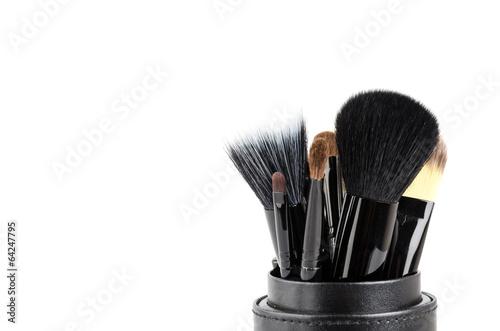 Makeup brush isolated white background © siraphol