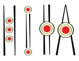 set of sushi sign