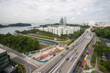 Residential areas of Singapore.