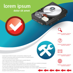 hard disk , repair service template (HDD)