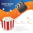 popcorn movie brochure template
