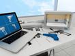 Leinwanddruck Bild - 3d printing technology, printing gun