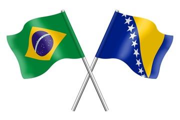 Flags : Brazil and Bosnia-Herzegovina