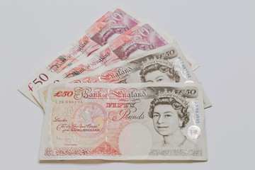 British Fifty Pound Notes