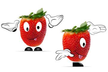 2 Erdbeeren