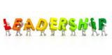 Team forming Leadership word