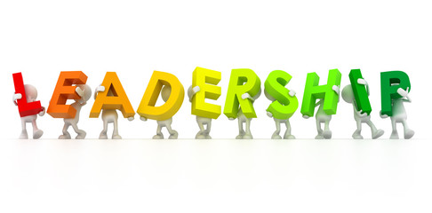 Team forming Leadership word