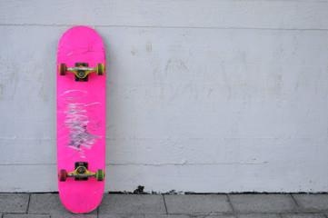 pink blank skateboard
