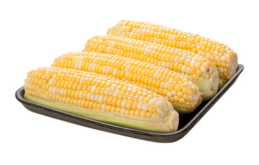 Sweetcorn Package isolated