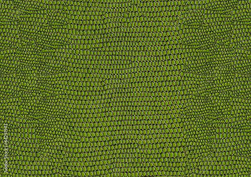 Tuinposter Stof Green snakeskin