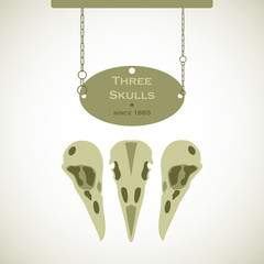 Three Skulls Signs