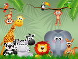 Fototapety jungle animals