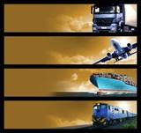 Naklejka Logistics Banners