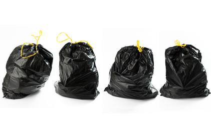 Quatto borse di rifiuti in fila