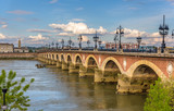 Fototapety Pont de pierre in Bordeaux - Aquitaine, France