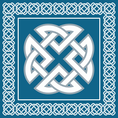 Celtic knot,symbol represents four elements ,vector
