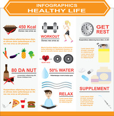 infographics of healthy life
