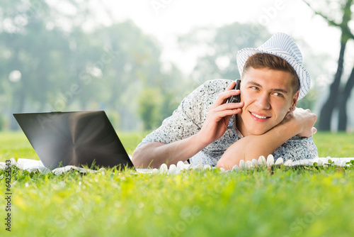 young man with a cell phone