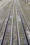 Tram tracks in the city