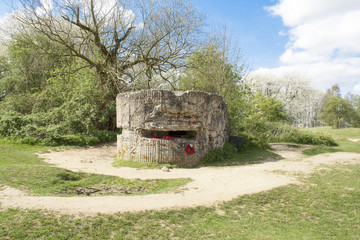 bunker of world war on hill 60 Belgium