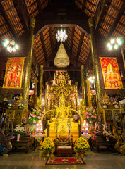 Beautiful Buddha Statue in Wat Pa Daraphirom Of Chiang Mai, Thai