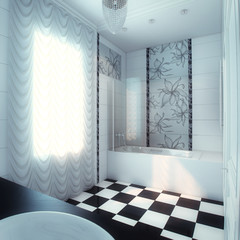 Beautiful Large Bathroom in Luxury Home Ver.4